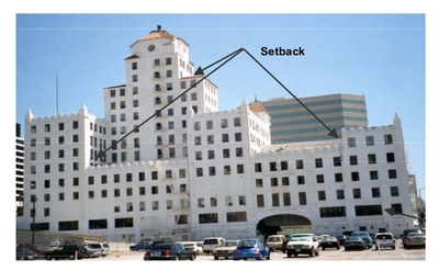 An example of a building with several setbacks (FEMA 2002)